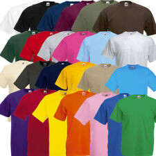 5 SERIE / 10 T-SHIRT FRUIT OF THE LOOM VALUEWEIGHT SET S fino a XXL 25 COLORI