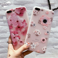 Flower Patterned Case For iPhone 6 6s 7 Plus Cover Soft Silicone