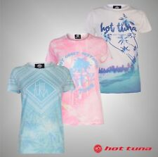 Ladies Branded Hot Tuna Full Printed Sublimation T Shirt Crew Top Size 8-16