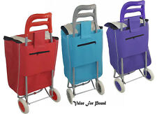 LARGE EASY STORAGE STRONG LIGHT AND DURABLE SHOPPING TROLLEY MANY DESIGN