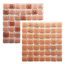 PINK Bespoke Glass Mosaic Tiles Sheets Borders Hand-made