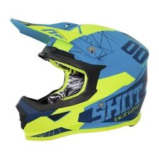 SHOT Casque Cross Furious Spectre Bleu Néon Jaune Mat