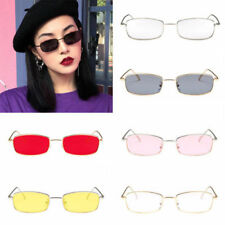 Small Square Frame Rectangular Sunglasses Retro Fashion Shades Vintage Glasses