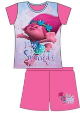 Girls Dreamworks Trolls Short Summer Pj Set Trolls Poppy NightWear Pyjamas New