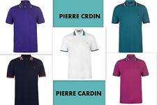 New Mens Pierre Cardin Classic Short Sleeves Tipped Polo Shirt Size M L XL XXL