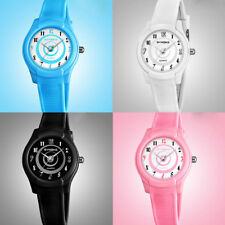 KIDS BOYS GIRLS WATERPROOF DIAL SOLID COLOR QUARTZ ANALOG WRIST WATCH ALLURING