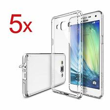 5x Cover Custodia Trasparente Slim Per Galaxy Note 4 Grand Neo Plus J3
