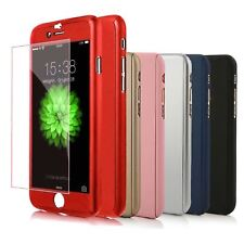 Funda 360° hibrida para Iphone 5 5s SE + Cristal Templado Colores
