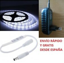 Tira Led 3528 a 12V Resistente al Agua con Transformador y Mini Regulador Dimmer