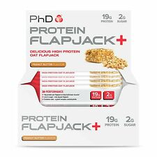 A PhD Nutrition High Protein Flapjack+ Bars, Peanut Butter, 75 G, Pack Of 12