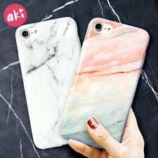 AKI Marble Phone Case for iPhone 8 Plus iPhone 6 Plus Case Glossy Soft Back