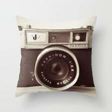 Throw Cushion Home Decor Pillow Cover Case Double Sided Vintage Camera