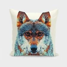 Throw Cushion Home Decor Pillow Cover Case Double Sided Wolf Dog Animals