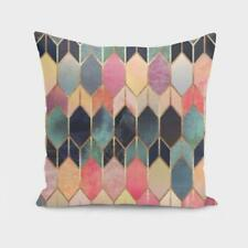 Throw Cushion Home Decor Pillow Cover Case Double Sided Glass Multi Pattern