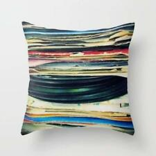 Throw Cushion Home Decor Pillow Cover Case Double Sided Vintage Records