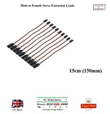 Servo Male to Female Extension Leads 150 300 400mm Cables Receivers Controllers