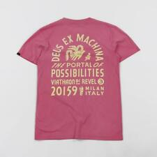 Deus Ex Machina Men's Sunbleached Possibilities Tee T Shirt Rose Pink Yellow