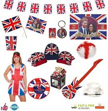 ROYAL WEDDING Bunting Union Jack Party Decoration & Souvenirs Great Britain LOT