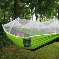 Outdoor Camping Travel Swing Bed Hammock Portable Mosquito Net Nylon Parachute