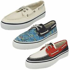 uomo Sperry Bahama 2-Eye HAWAII pizzo blu di tela Casual Scarpe da barca