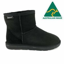 Mubo UGG 36904 BLACK WATER RESISTANTS AUSTRILIAN MADE CLASSIC MINI UGG BOOTS