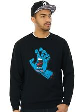 Santa Cruz Black SP17 Screaming Hand Crew Sweater