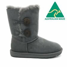 Mubo UGG 36902 GREY WATER-RESISTANT AU MADE CLASSIC 2 BUTTON SHORT 3/4 UGG BOOTS