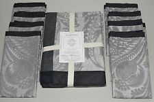 NUEVO Williams Sonoma Alba Jacquard mantel & 8 SERVILLETAS gris 70 x 108 126
