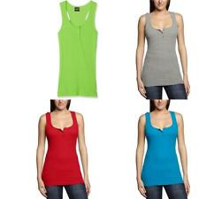 Urban Classics - Ladies Button Tanktop, T-shirt sportiva Donna - NUOVO