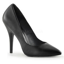Scarpe Donna Decoltè Decollete Vegan Pelle Nero Tacco 12 Pleaser Seduce-420