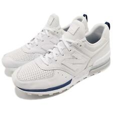 New Balance MS574BLW D White Blue Navy Men Running Shoes Sneakers MS574BLWD