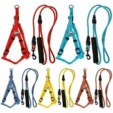 Max Care Adjustable Medium Dog Rope Lead Safety Harness Set Puppy Collar Leash
