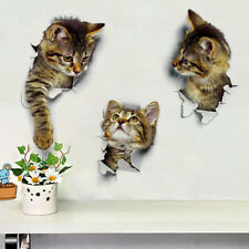% 3D Cats Wall Sticker Toilet Stickers Hole View Vivid Dogs Bathroom Room