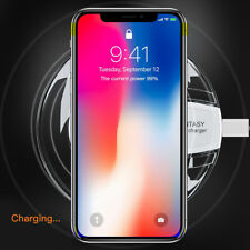 Qi Wireless Charger Pad Mat Dock for iPhone X 8 Plus Samsung Galaxy S9 S8 Plus+