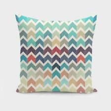 Throw Cushion Home Decor Pillow Cover Case Double Sided Watercolor Chevron Patte