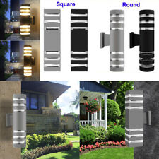 9W Dual Head Up Down Outdoor Security Light Porch Outside House Garden Wall Lamp