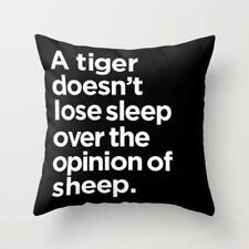 Throw Cushion Home Decor Pillow Cover Case Double Sided Tiger Sheep Quote