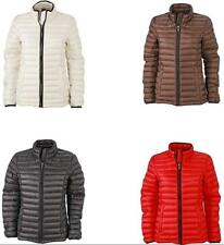 James & Nicholson - Daunenjacke Ladies Quilted Down Jacket, Giacca Donna - NUOVO
