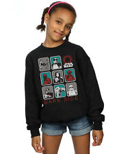 Star Wars Fille The Last Jedi Dark Side Multi Character Sweat-Shirt
