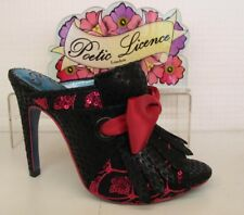 Poetic Licence by Irregular Choice Moscow Mule Black Pink Bow Ladies Heel Shoe