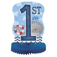 Blue Nautical 1st Birthday Party Table Centrepiece Decoration Birthday Whale Sea