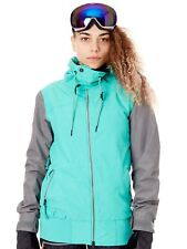 Volcom Teal Green Stave Womens Snowboarding Jacket