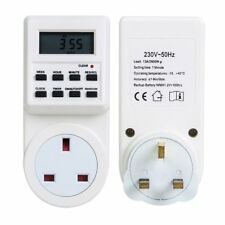 Electronic Digital Mains Plug-in Timer Socket  LCD Display 12/24 Hour 7 Days MJ