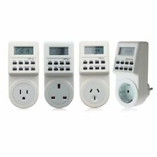 Electronic Digital Mains Plug-in Timer Socket  LCD Display 12/24 Hour 7 Days J@