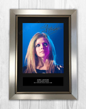 Avril Lavigne Signed Photo Print Mounted Quality A4 Reproduction Autograph Frame