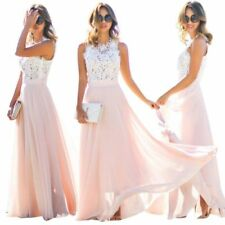 Formal Long Women Lace Dress Prom Evening Party Cocktail Bridesmaid Wedding MU