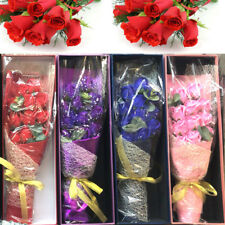 Bouquet Artificial Scented Flower Soap Rose Wedding Party Decor Valentines Gift