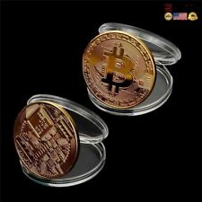 NEW Premium Gold Plated Bitcoin Coin Collectible Gift Casascius Bit Btc Art Coll