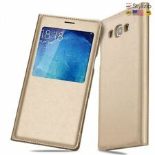 NEW Premium Smart View Flip Cover Leather Case For Samsung Galaxy A5 2015 A7 A70