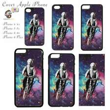 Cover per Apple iPhone - Stampa Einstein in the Space Colorate Colorful Biciclet